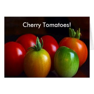 Cartão Tomates de cereja
