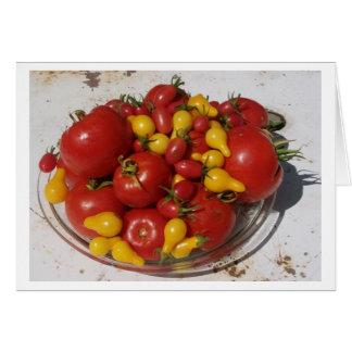 Cartão Tomates do ~ da coleção do jardim da luz do sol