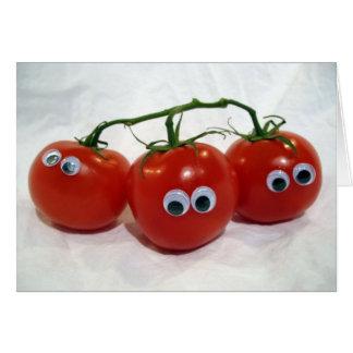 Cartão Tomates parvos Eyed Googly