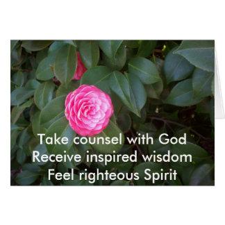 Cartão Tome o conselho com deus
