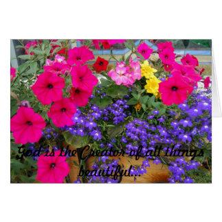 Cartão Tome o tempo parar e cheirar as flores!