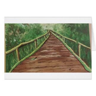 Cartão tome uma caminhada