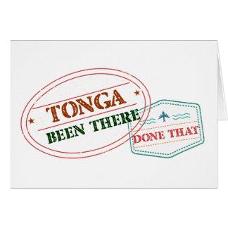 Cartão Tonga feito lá isso