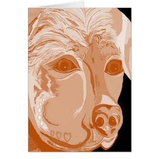 Cartão Tons do Sepia de Rottweiler