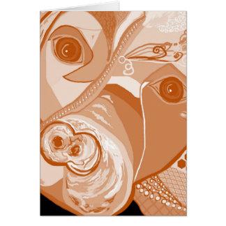 Cartão Tons do Sepia do pitbull