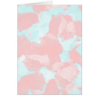 Cartão Tons modernos da escova do cerulean e do rosa