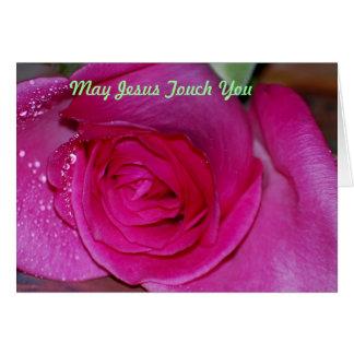 Cartão Toque de maio Jesus você