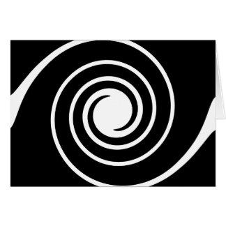 Cartão Torção preto e branco