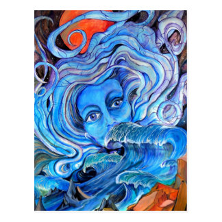 Cartão tormentoso das águas