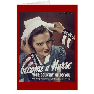 Cartão Torna-se um poster de Recuriting da enfermeira