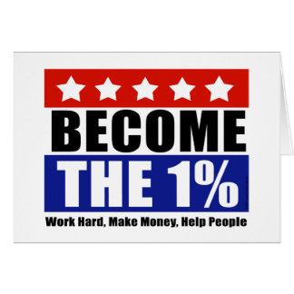 Cartão Tornam-se o um por cento, Anti-Ocupam-se Wall
