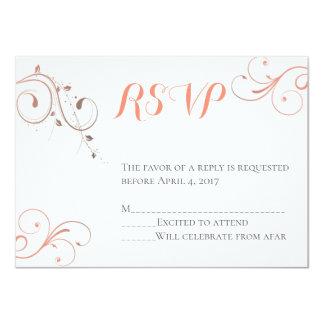 Cartão tornando-se do Sr. & da Sra. RSVP