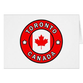 Cartão Toronto Canadá