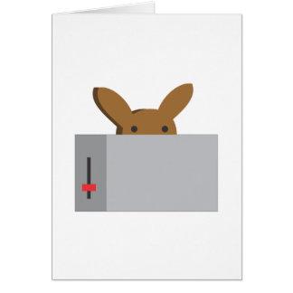 Cartão torradeira do coelho