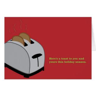 Cartão Torradeira do Xmas - vermelho