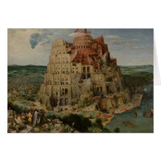 Cartão Torre de Babel por Peter Bruegel a pessoa idosa,
