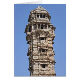 Cartão Torre de Victoria no forte de Chittorgarh, India