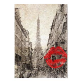 Cartão torre Eiffel de Paris da paisagem do outono do
