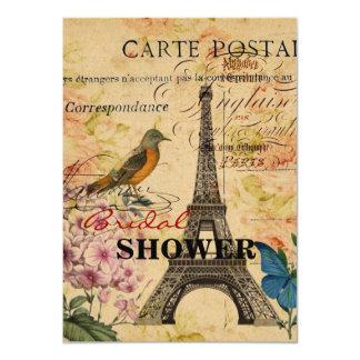 Cartão Torre Eiffel francesa de Paris do pássaro do