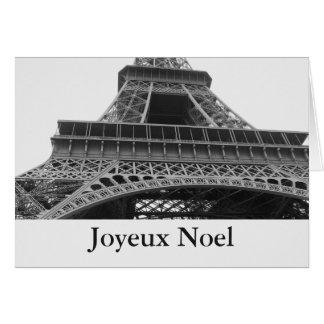 Cartão Torre Eiffel Joyeux Noel de Paris