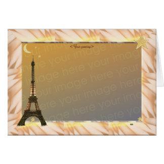 Cartão Torre Eiffel, modelo