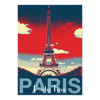 Cartão torre retro de France Paris Effiel do vintage do