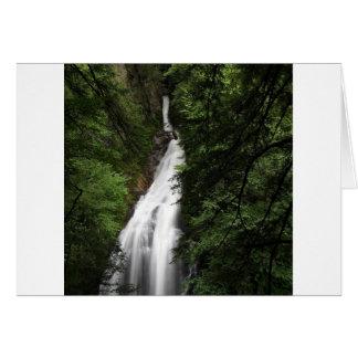 Cartão Torrente de fluxo branca da cachoeira