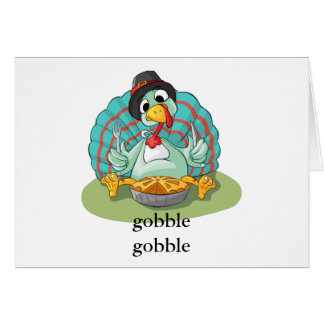 Cartão Torta bonito de Turquia da acção de graças