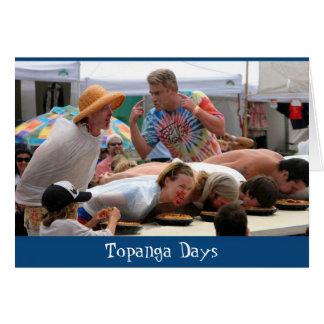 Cartão Torta de Topanga