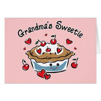 Cartão Torta do docinho da avó