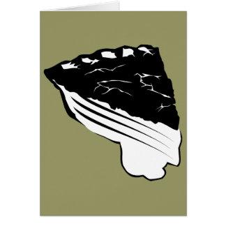 Cartão Torta - fatia de torta