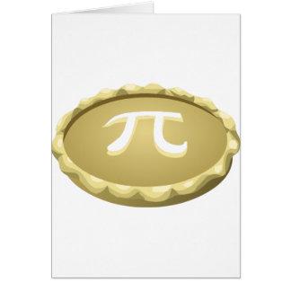 Cartão torta feliz do dia do pi