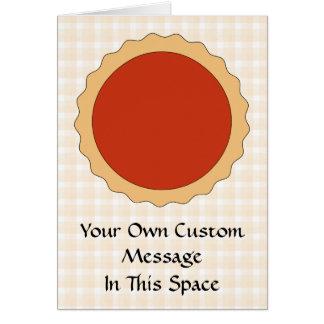 Cartão Torta vermelha. Galdéria da morango. Verificação