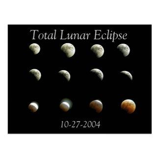 Cartão total da foto do eclipse lunar
