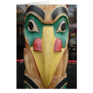 Cartão Totem do nativo americano