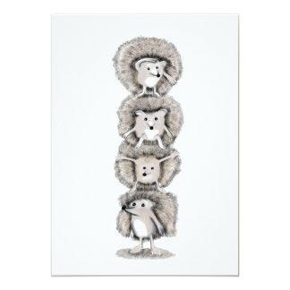 Cartão Totem dos ouriços