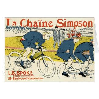 Cartão Toulouse-Lautrec - arte da bicicleta do vintage