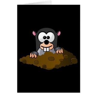 Cartão Toupeira engraçada dos desenhos animados