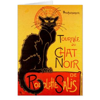 Cartão Tournée du Conversa Noir - poster vintage