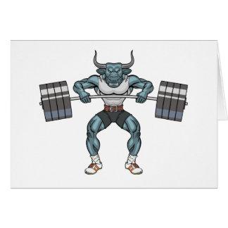 Cartão touro do levantamento de peso