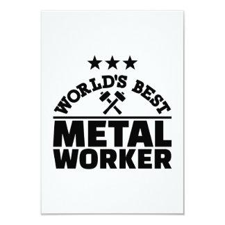 Cartão Trabalhador do metal do mundo o melhor