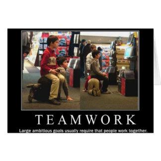 Cartão Trabalho da equipe