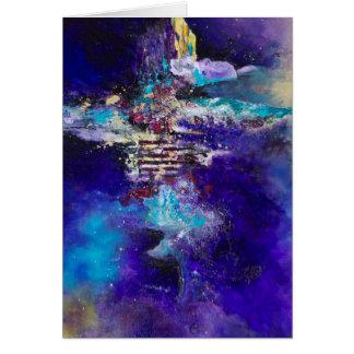 Cartão Trabalho de arte abstracta da pintura da