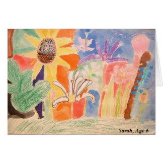 Cartão Trabalho de arte de Sarah, Sarah, idade 6
