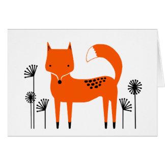 """Cartão Trabalho de arte original"""" Fred o Fox"""