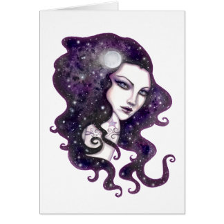 Cartão Trabalhos de arte celestiais da fantasia de Skye