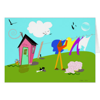 """Cartão Trabalhos de arte digitais originais da """"ajudante"""