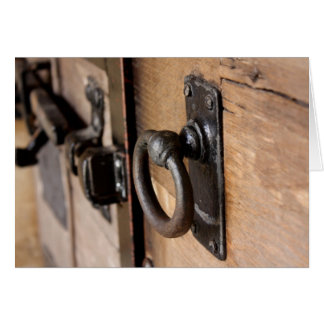 Cartão Tração antiga rústica e trava da porta