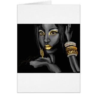 Cartão Traço de produtos do ouro
