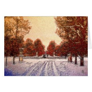 Cartão Traços na neve